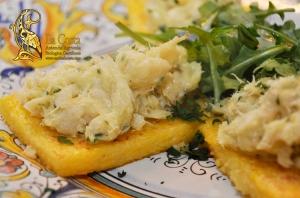 Un antipasto veneziano per Natale - Crostini di pane al Baccalà mantecato